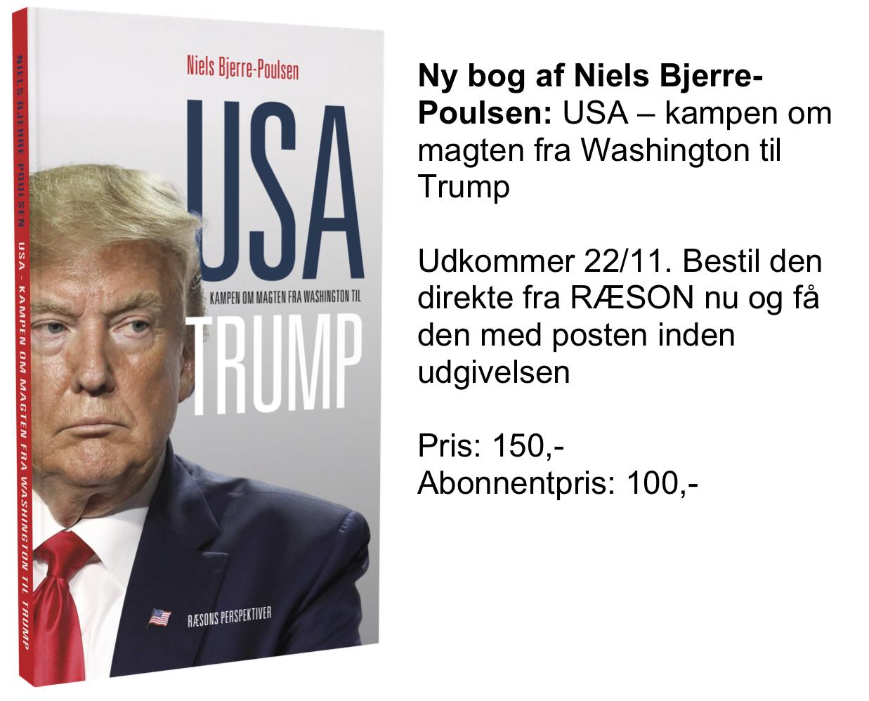 Ny bog på vej: USA – kampen om magten fra George Washington til Donald Trump