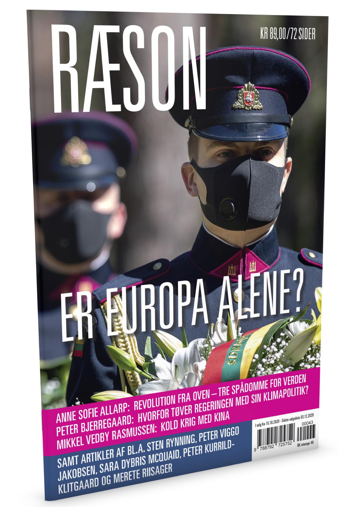 Nye RÆSON er i kioskerne nu: Er Europa alene? Tegn abonnement og få nummeret med posten